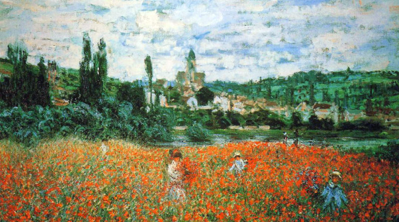 Monet - Campo di papaveri vicino Vetheuil