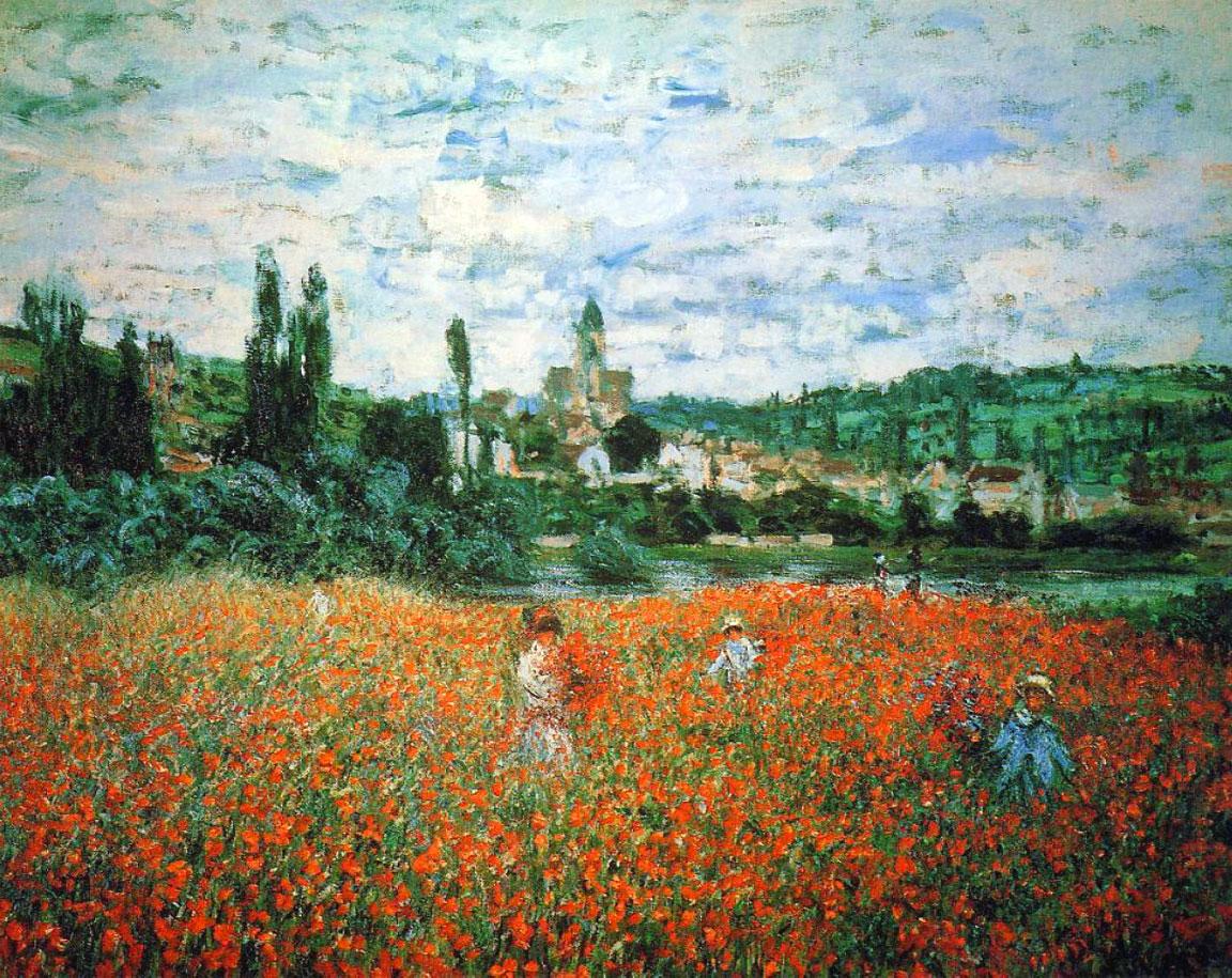 Campo di papaveri a Vétheuil (quadro di Monet)