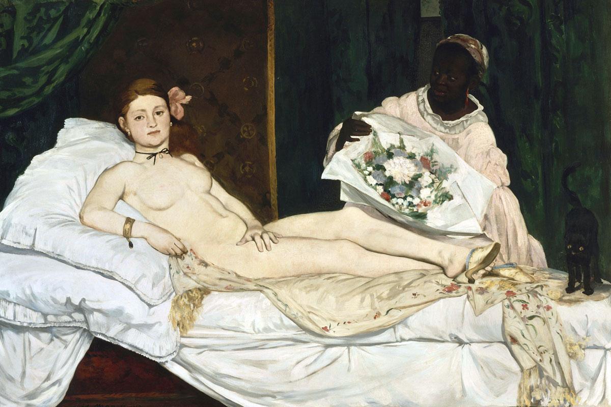 """Edouard Manet: """"Olympia"""" • Olio su tela 130 x 190 cm, Musée d'Orsay, Paris (1863)"""