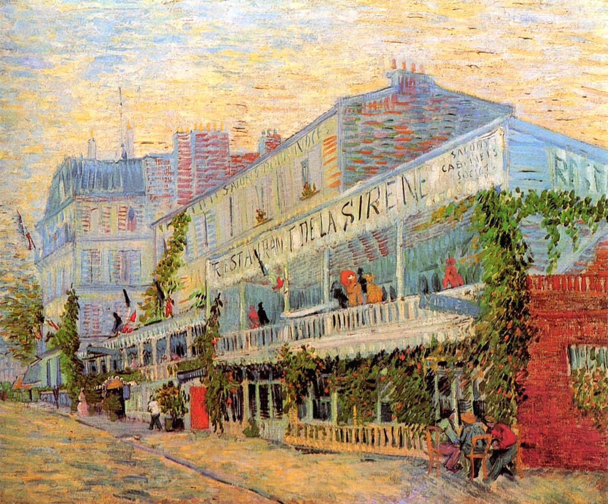 Van Gogh: Restaurant de la Sirène ad Asnières (1887)
