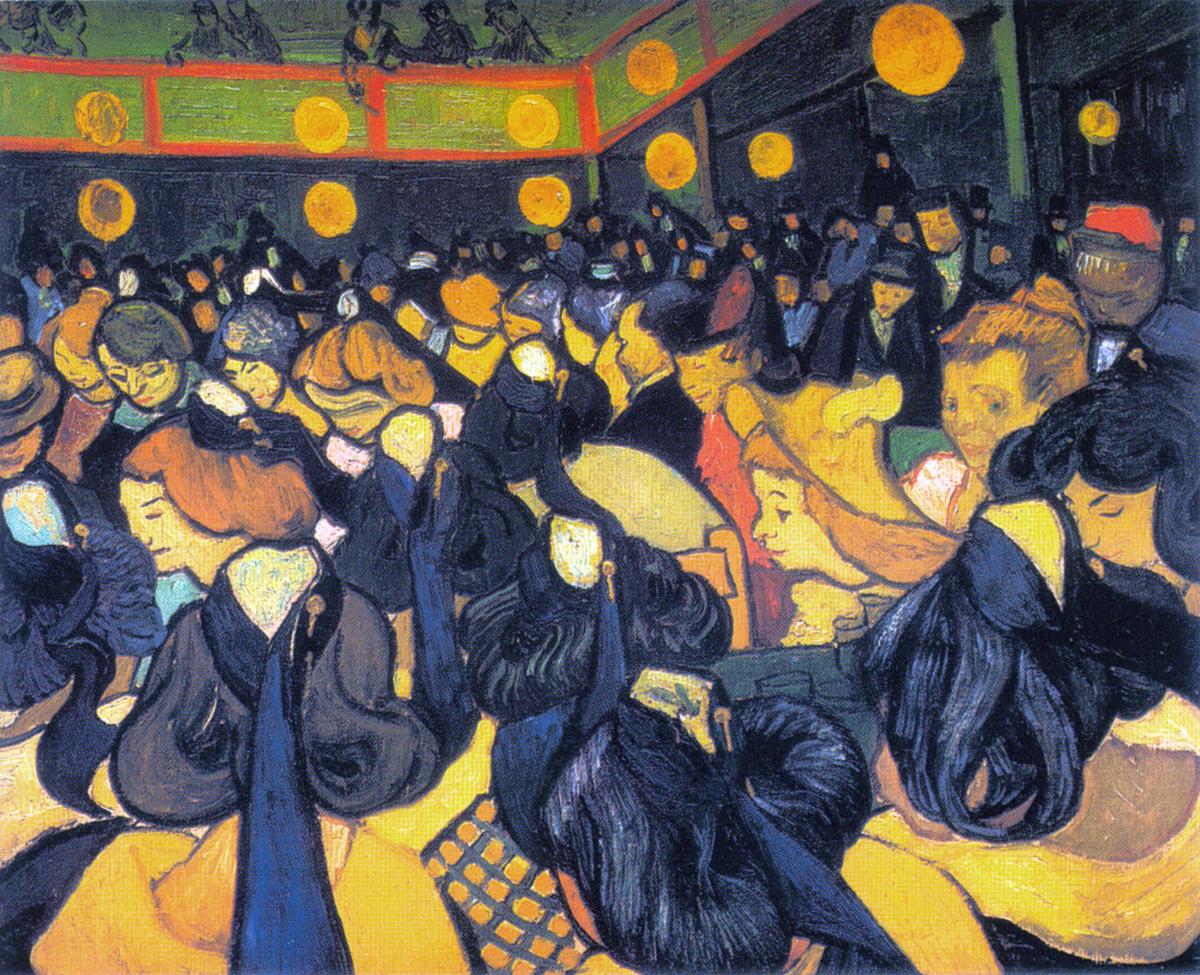 Van Gogh: Sala da ballo ad Arles (1888)