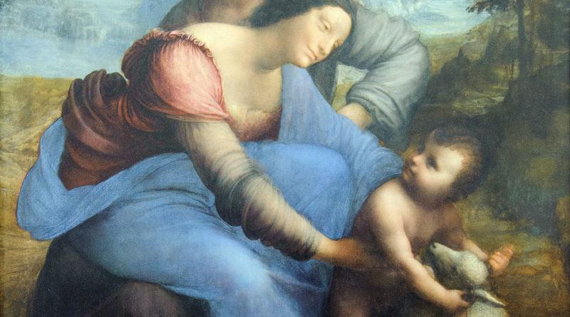 Sant'Anna, la Vergine e il Bambino con l'agnellino (Leonardo da Vinci, 1508 circa)