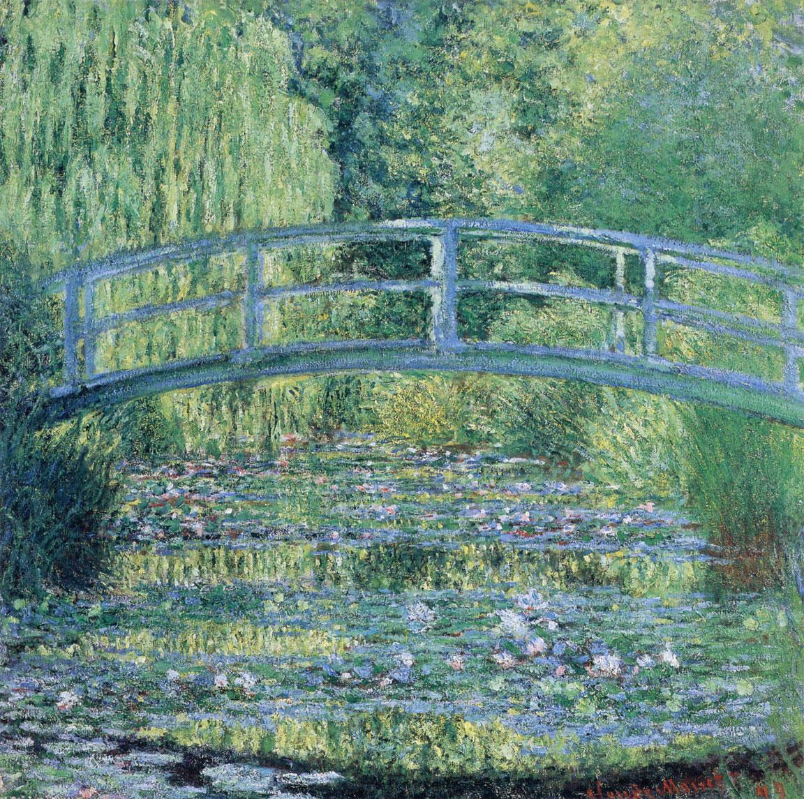 Stagno delle ninfee, armonia verde • Le Bassin aux Nymphéas, harmonie verte • Waterlily pond, green harmony