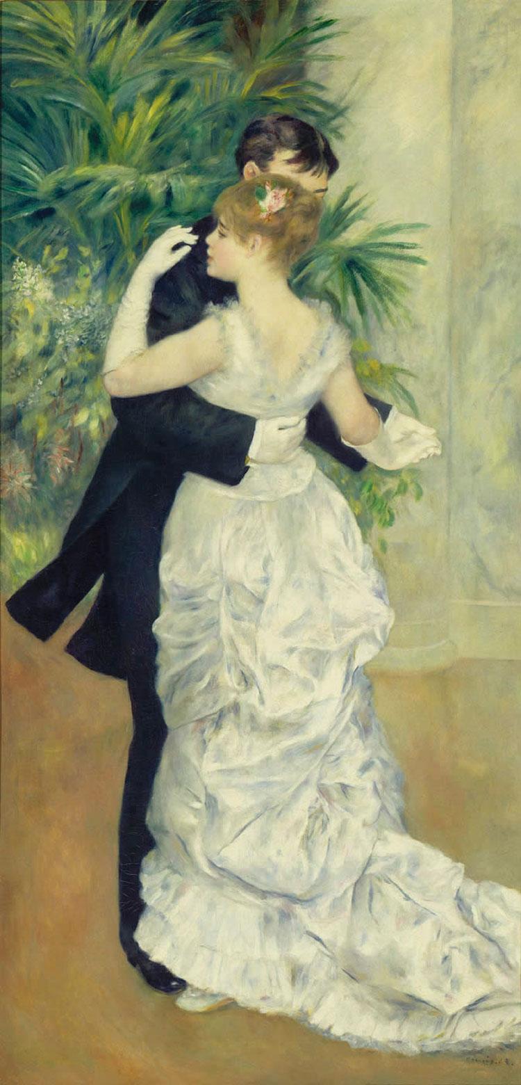 Ballo in città - Dans a la ville - Renoir - 1883