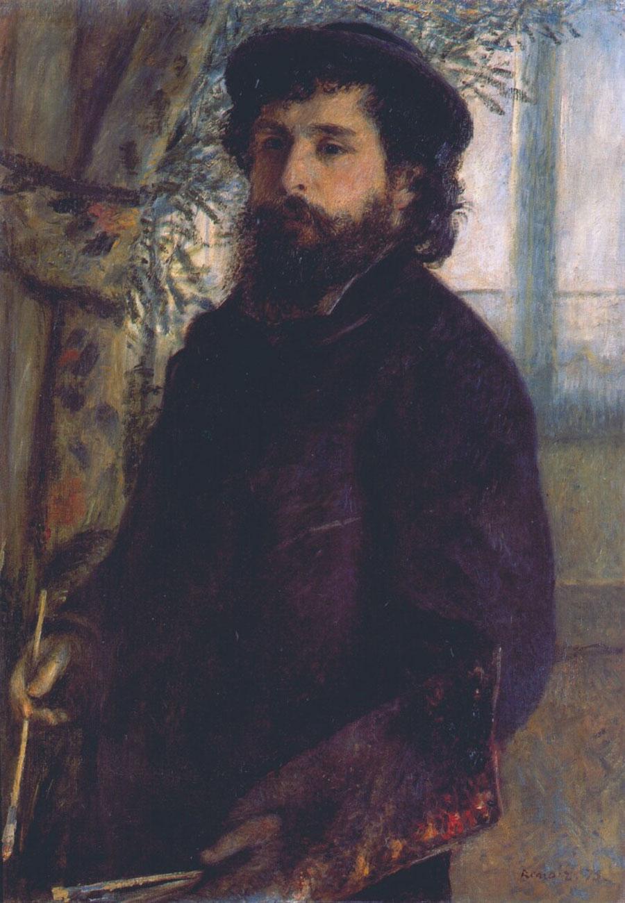 Ritratto di Claude Monet (eseguito da Renoir)