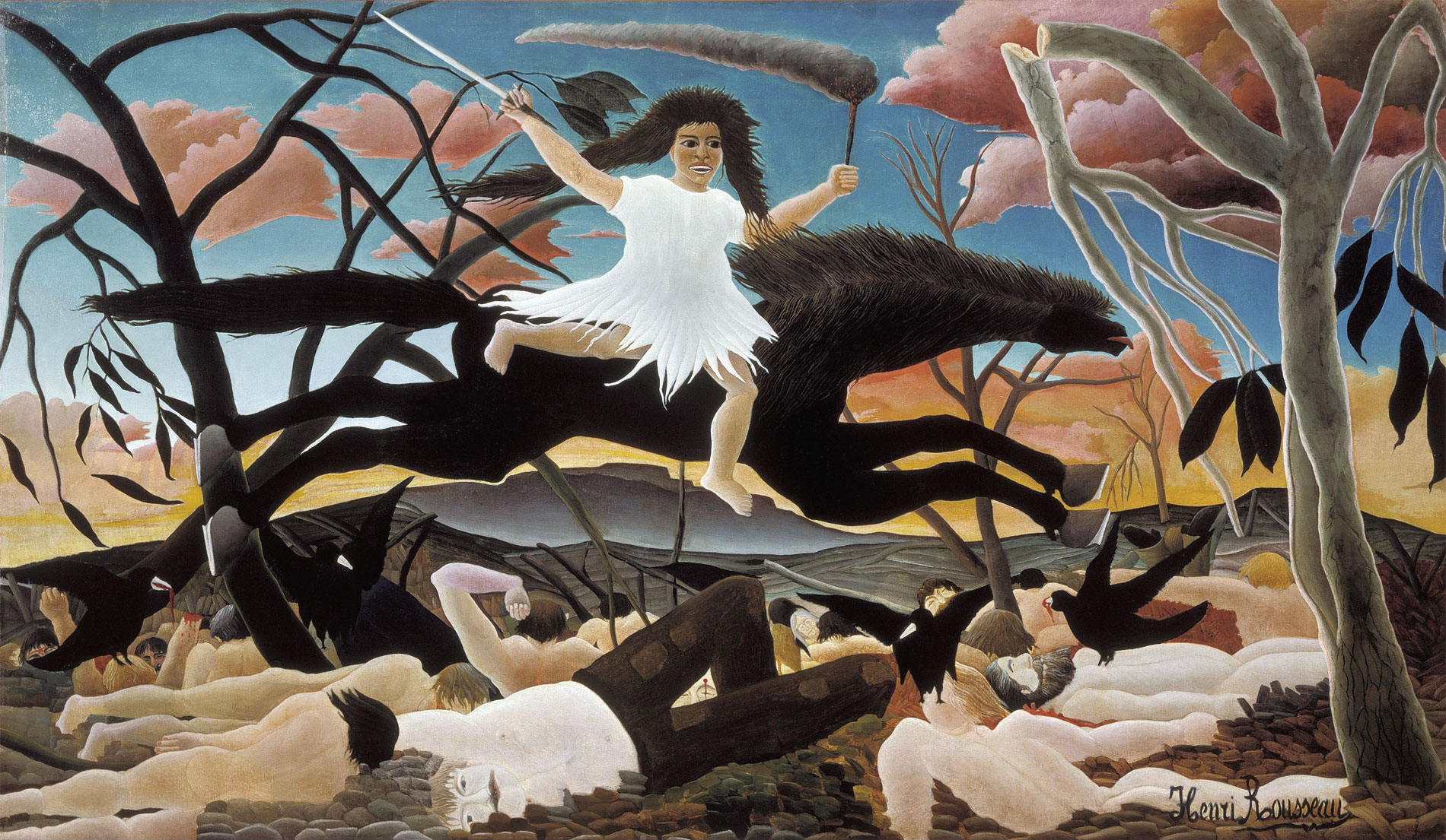 La guerra (La guerre) - 1894 - Henri Rousseau