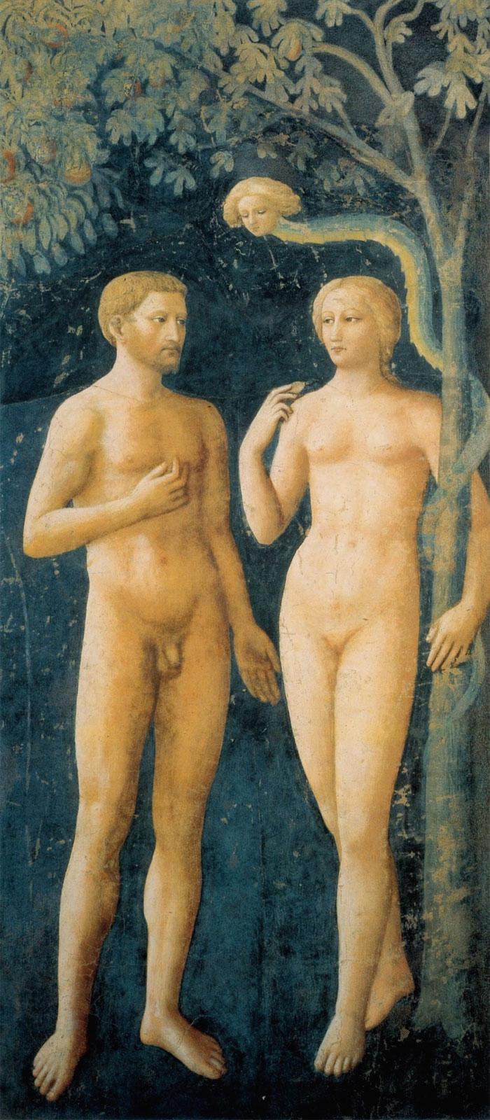 Masolino: La tentazione di Adamo ed Eva (1424, 1425)