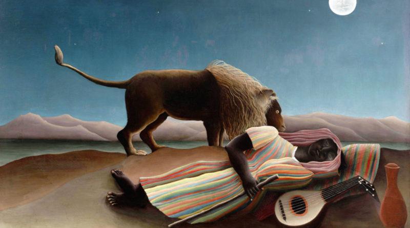 Zingara addormentata - quadro di Henri Rousseau - 1897