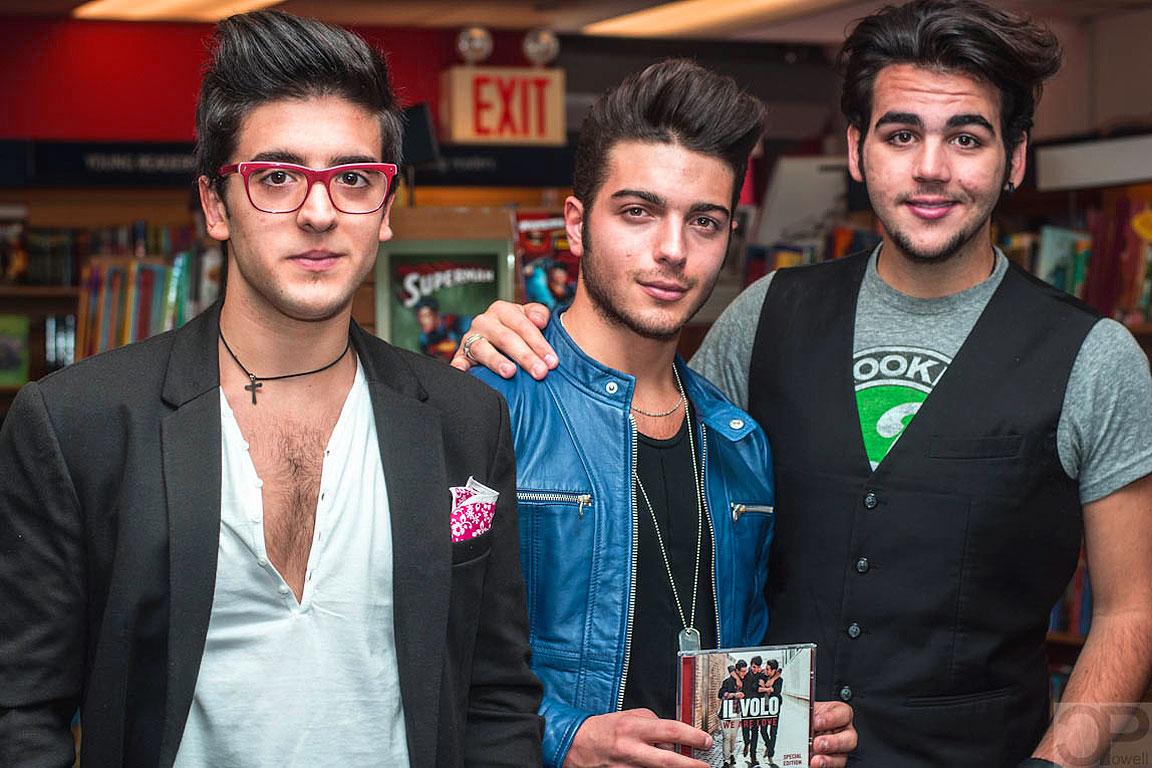Il Volo sono: Piero Barone, Gianluca Ginoble e Ignazio Boschetto