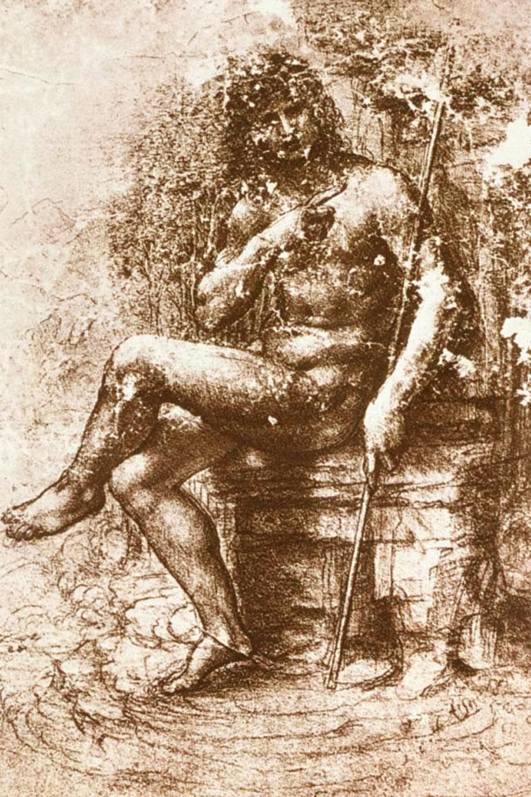 San Giovanni Battista - disegno - Leonardo da Vinci