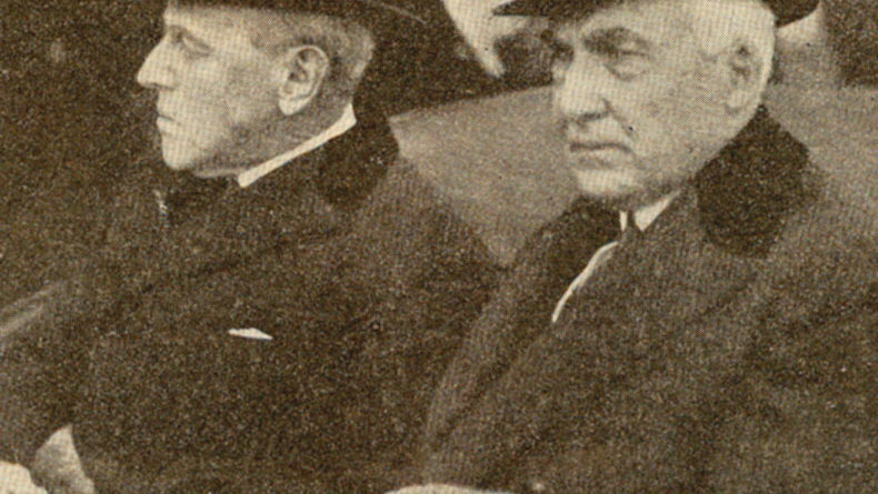 Woodrow Wilson e Warren G. Harding
