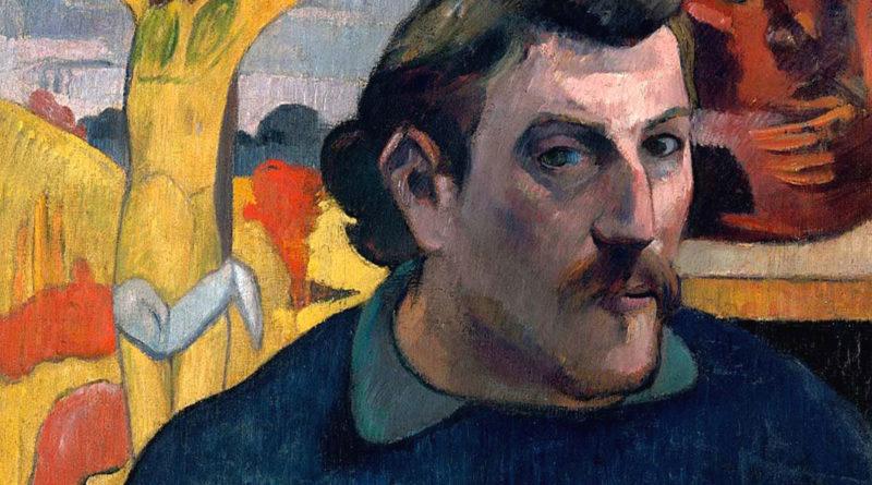 Autoritratto con Cristo giallo - Paul Gauguin - 1890-1891