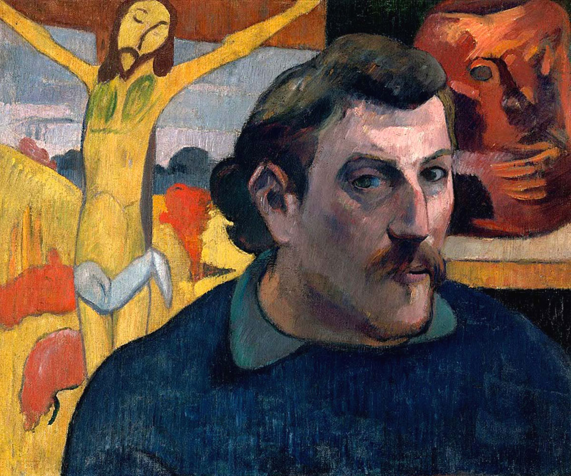 Autoritratto con Cristo giallo - Paul Gauguin - 1890-1891