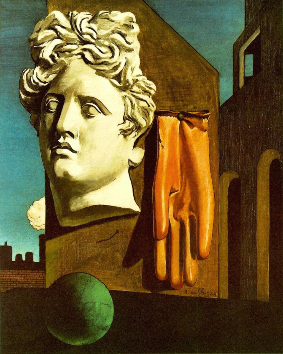 Canto d'amore  (Giorgio De Chirico, 1914)