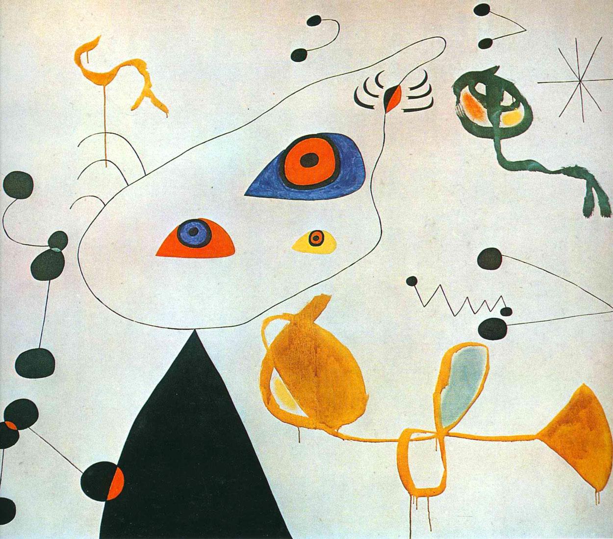 Donne e uccelli nella notte - Joan Miró - 1971-1975