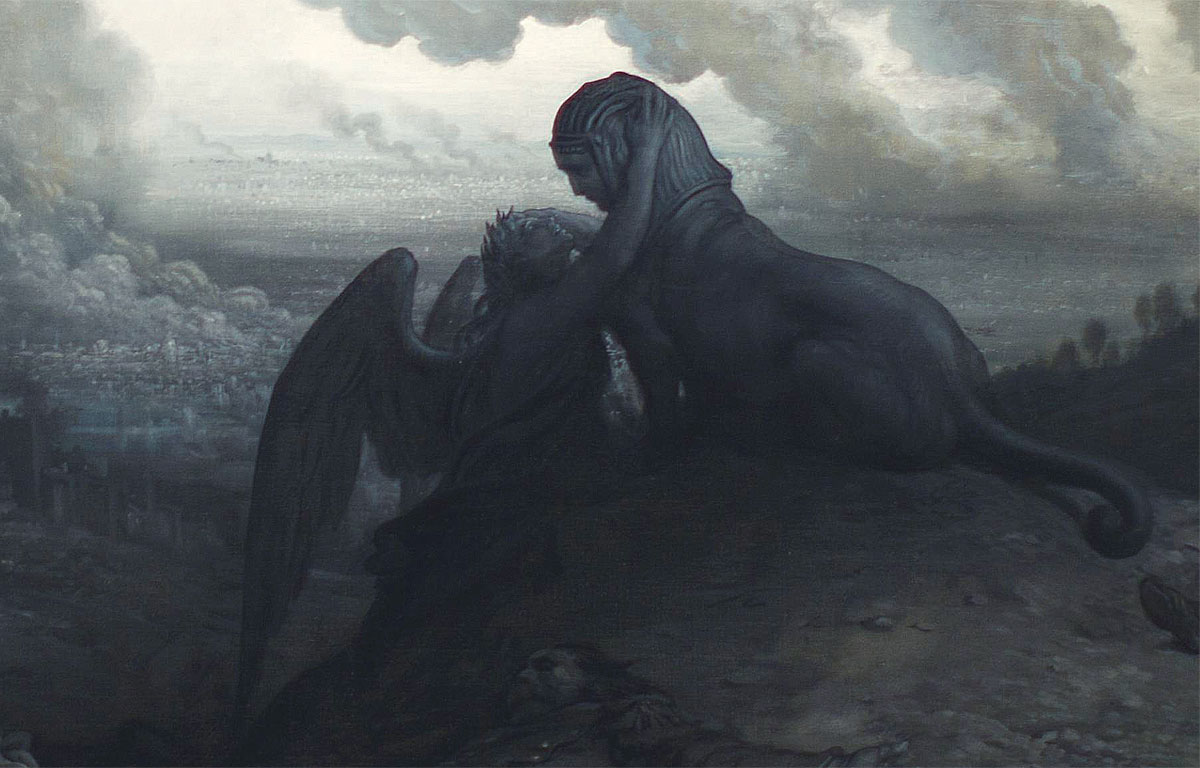 Enigma - Gustave Doré - dettaglio della Sfinge