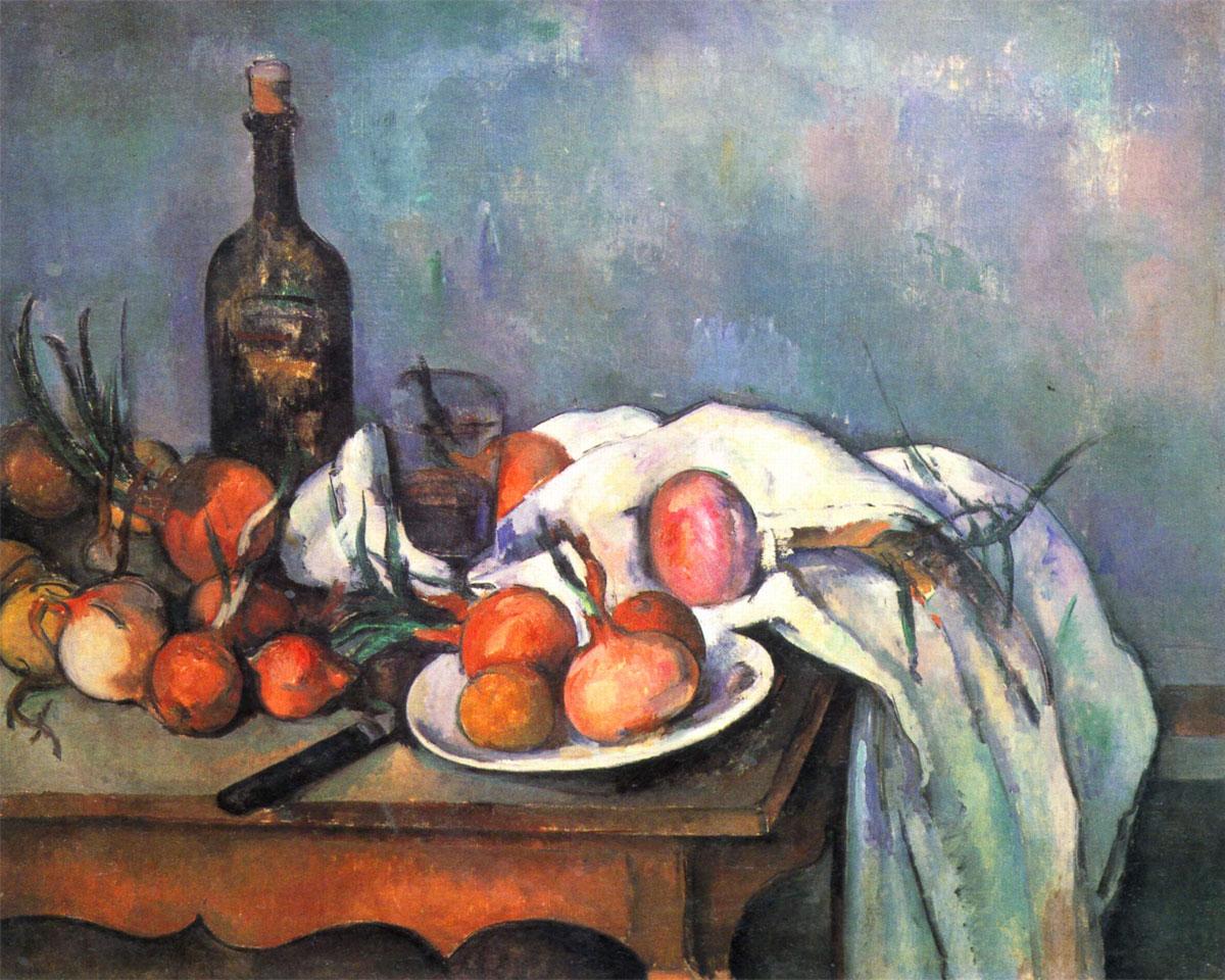 Natura morta con cipolle (Paul Cézanne, 1896-1898)