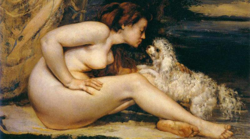 Courbet - Donna nuda con cane - 1861-1862