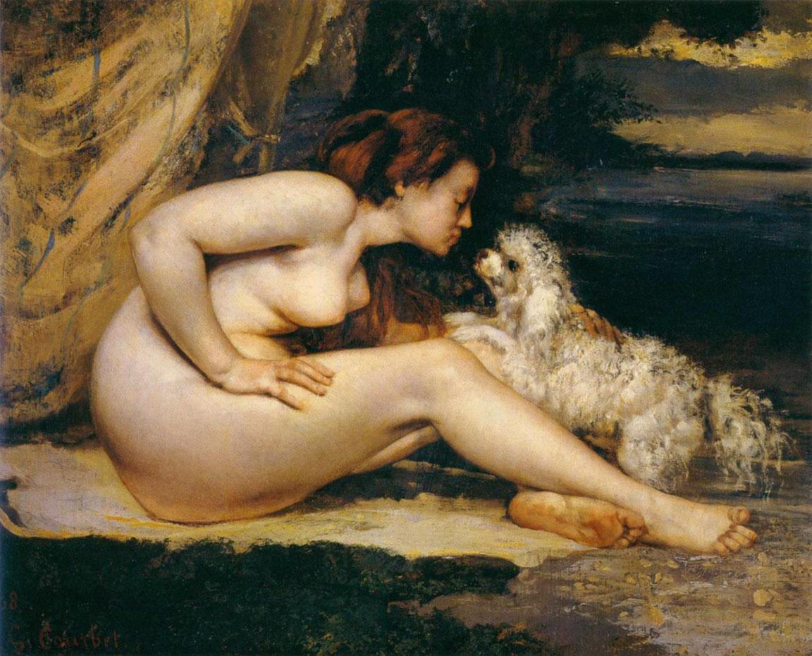 Courbet - Donna nuda con cane (1861-1862)