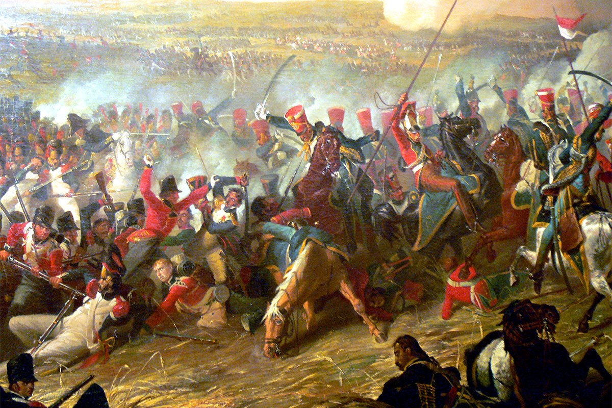 La Battaglia di Waterloo in un dipinto di Denis Dighton - 1816