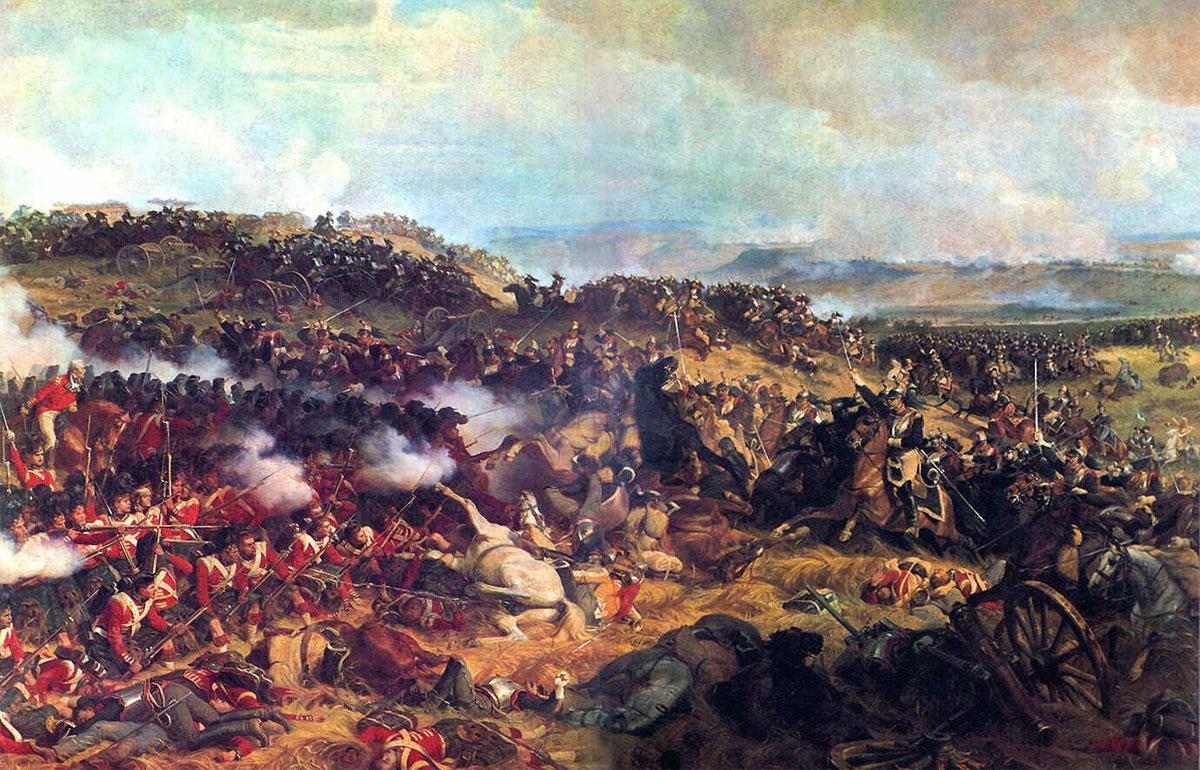 La Battaglia di Waterloo in un dipinto di Henri Felix Emmanuel Philippoteaux