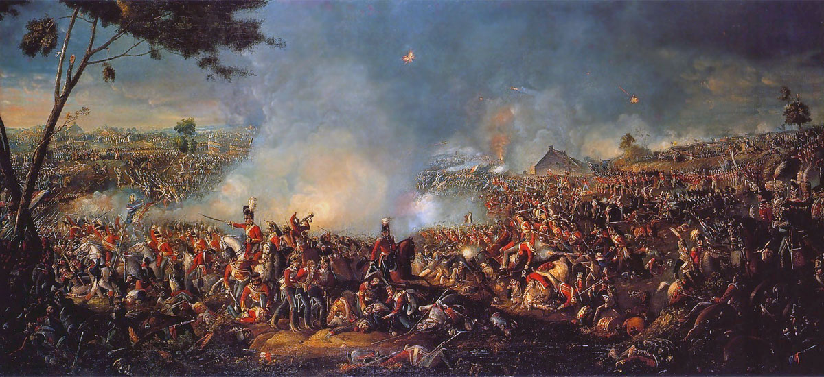 La Battaglia di Waterloo in un dipinto di William Sadler II