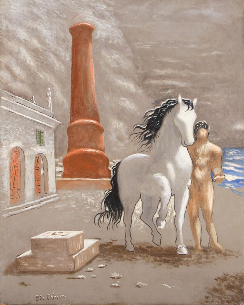 """Il celebre quadro """"Le rive della Tessaglia"""" (1926), di Giorgio De Chirico"""