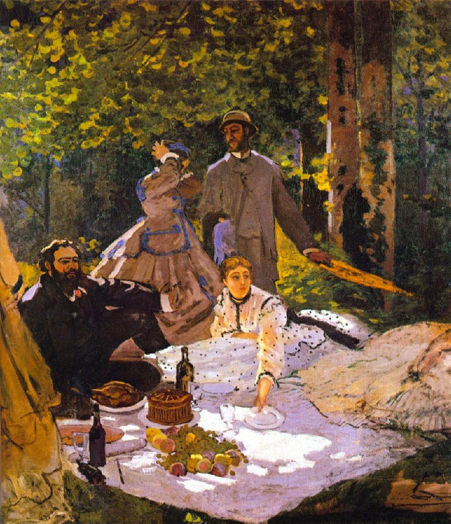 Monet - Colazione sull'erba - 1866