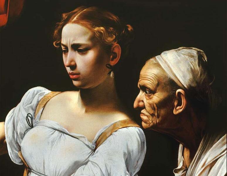 Giuditta e Oloferne - Caravaggio - particolare