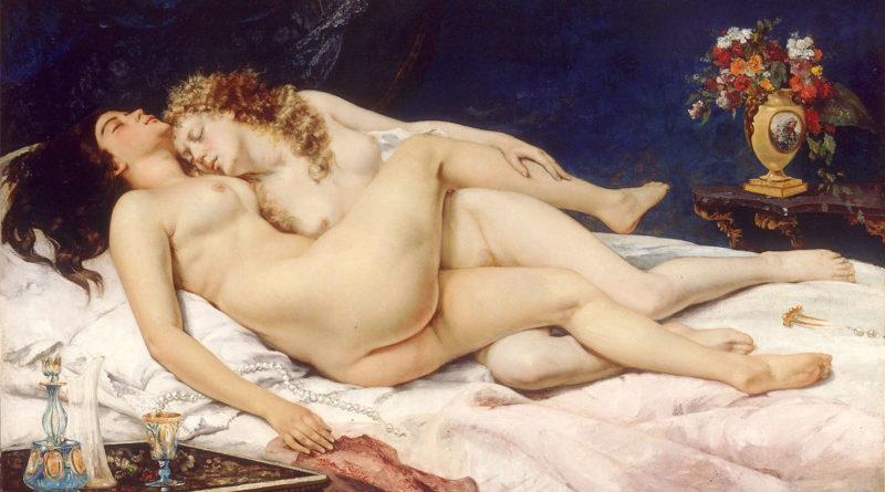 Il sonno - Gustave Courbet - 1866 - (Le Sommeil - Les Dormeuses) - Les Deux Amies (Le due amiche) - Paresse et Luxure (Indolenza e Lussuria)