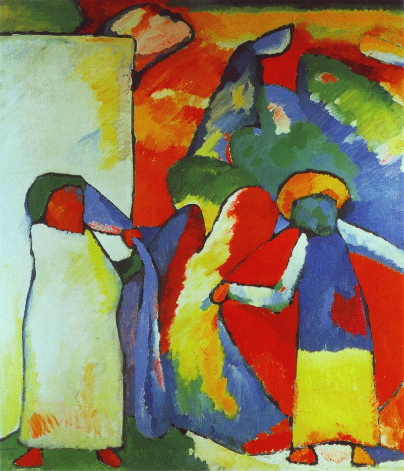 Kandinksy - 1909 - Improvvisazione 6 (Africano)