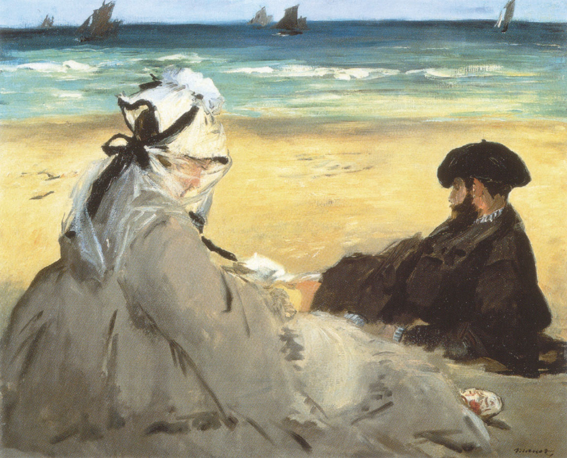 Manet - Sulla sabbia - 1873 - Sur la plage - On the beach