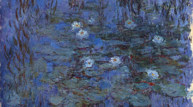 Monet - Ninfee blu - Blue water lilies - Nympheas bleus - 1916-1919