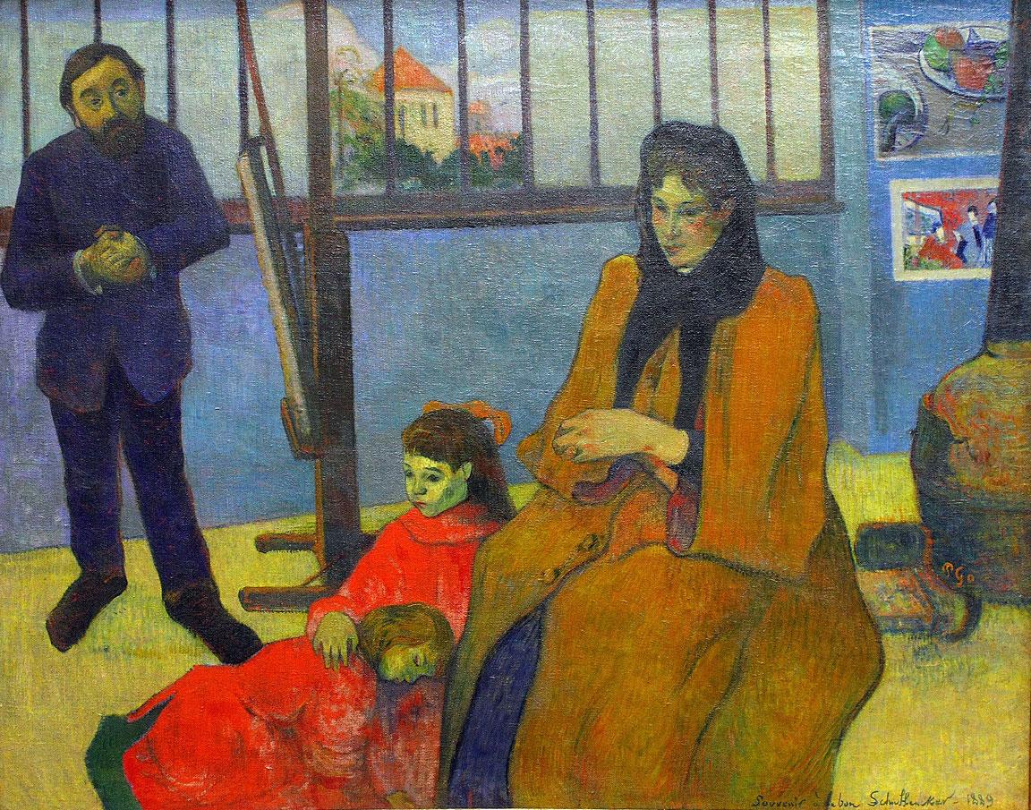 Atelier di Schuffenecker - Gauguin - 1889