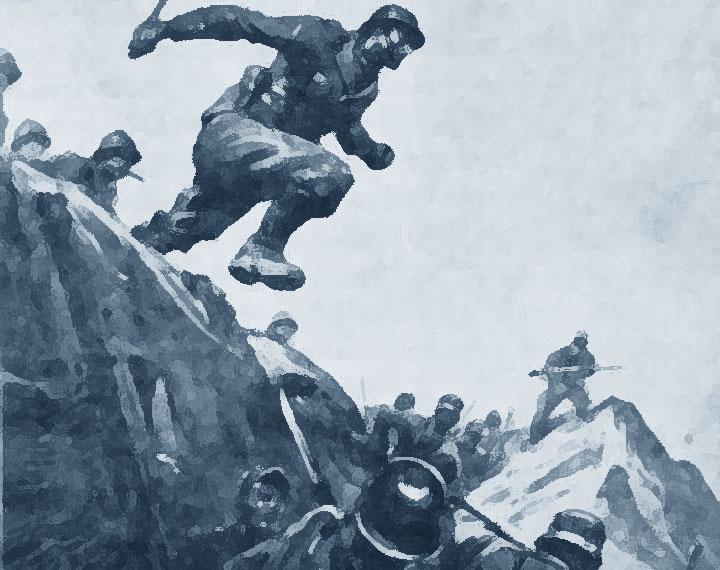 Arditi - militari in assalto a una trincea