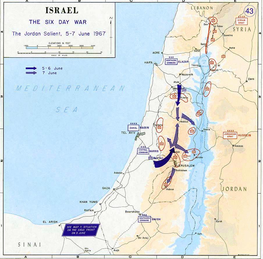 Israele e la Guerra dei sei giorni