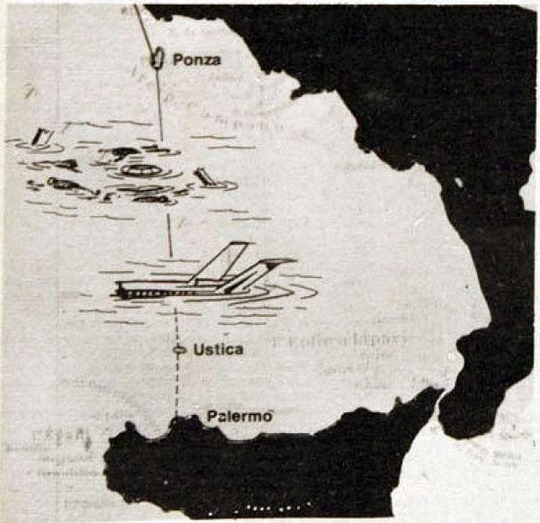 Strage di Ustica: una mappa illustrata che aiuta a capire dove sia caduto l'aereo