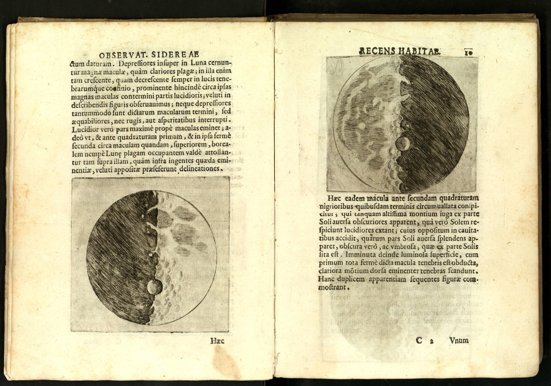 Galileo Galilei - Sidereus Nuncius (1610) Luna
