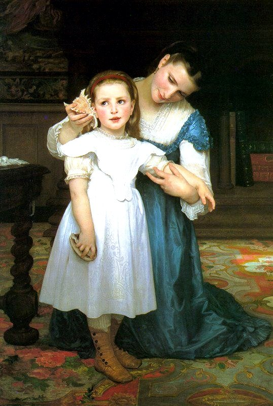 Bouguereau The shell Le Coquillage 1871