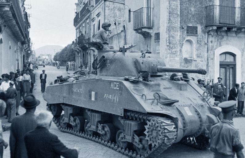 Sbarco in Sicilia - carro armato