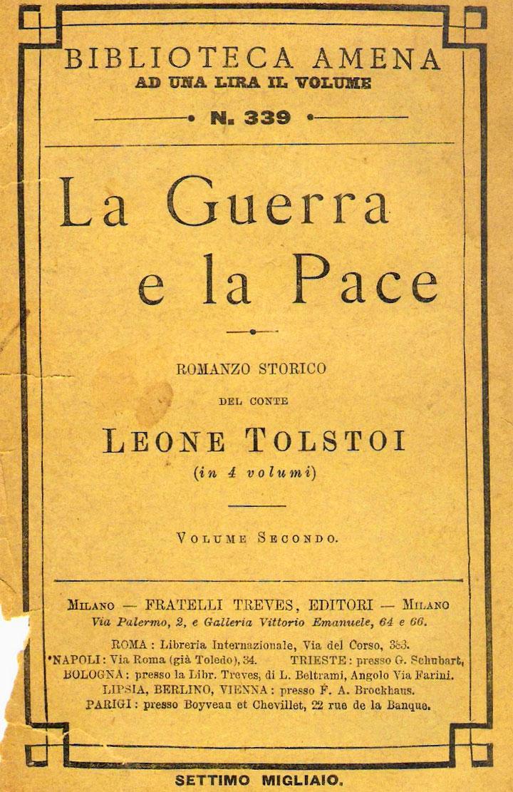 Tolstoj - Guerra e pace - una vecchia edizione
