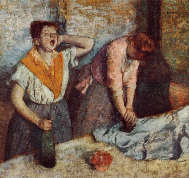 Le stiratrici - Les repasseuses - Degas - 1884-1886