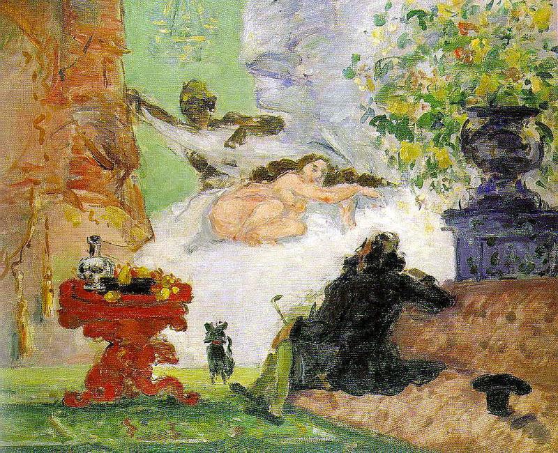 Modern Olympia - Cezanne - 1873-1874