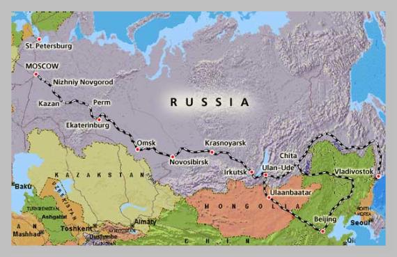 Transiberiana percorso