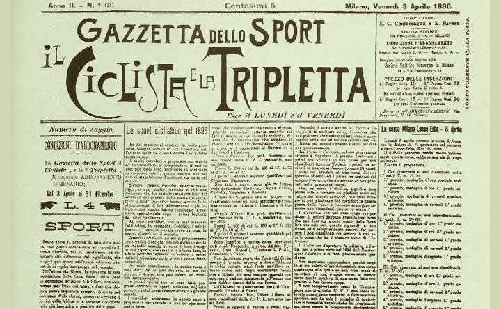 La Gazzetta dello Sport - Il primo numero del 7 aprile 1896