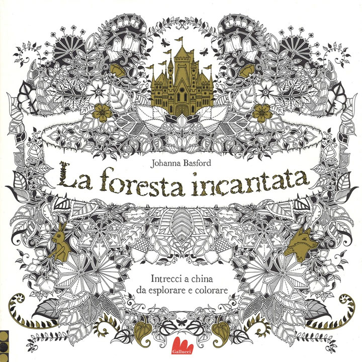 Johanna Basford - libro - La foresta incantata - Enchanted Forest - book