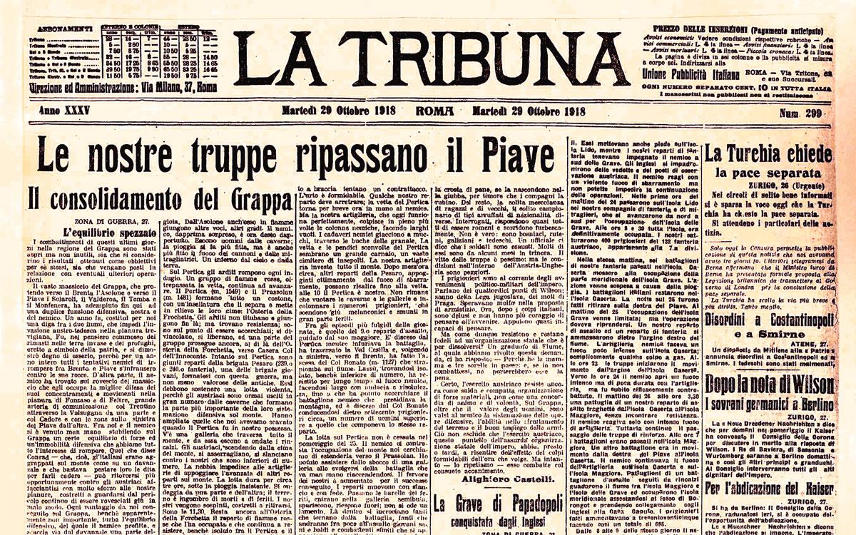 La Tribuna del 20 ottobre 1918