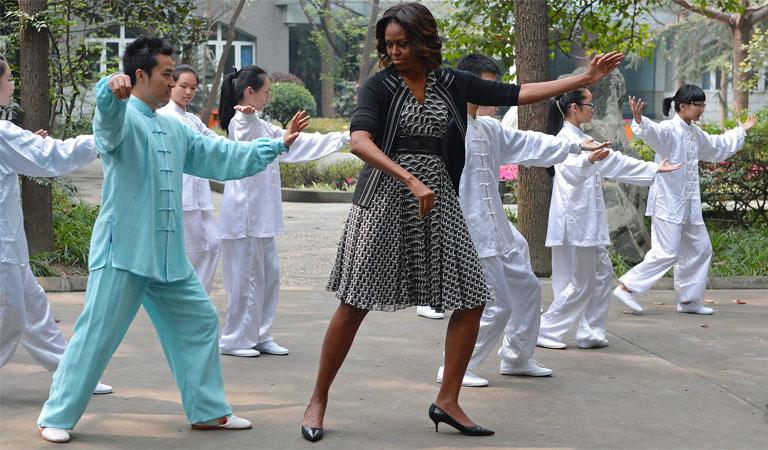 Michelle Obama - Tai Chi