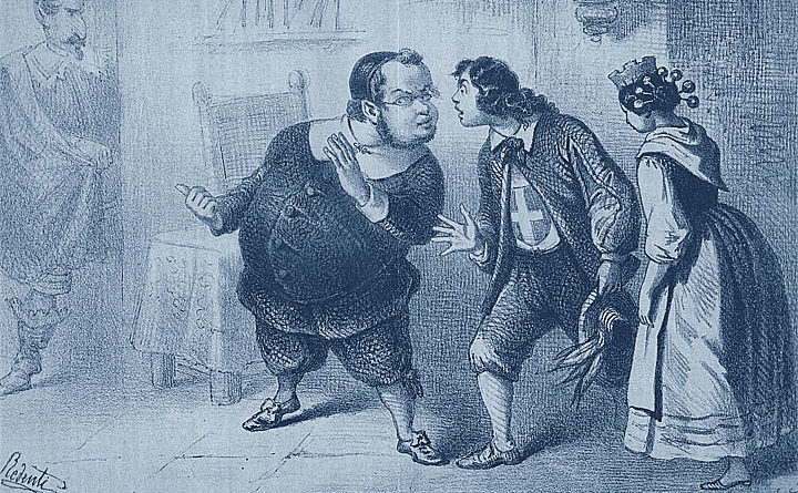 Cavour - Napoleone III - satira