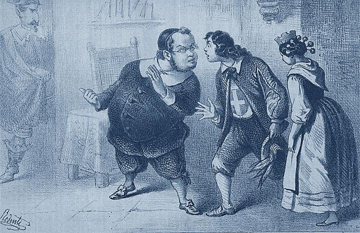 Seconda guerra d'indipendenza italiana: Cavour e Napoleone III nella satira dell'epoca